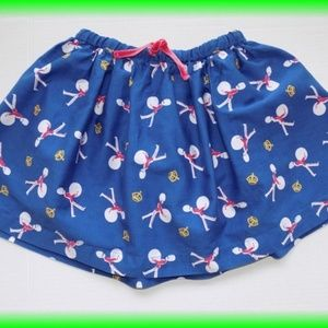 Mini Boden Blue Red London Soldier Skirt Size 6-7
